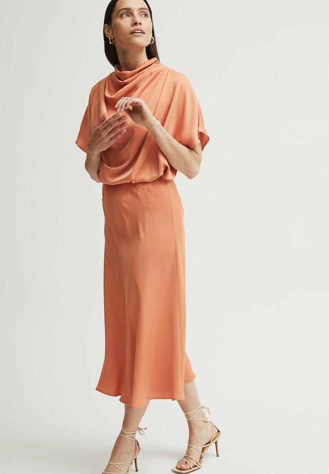 A-line skirt - arabesqe orange
