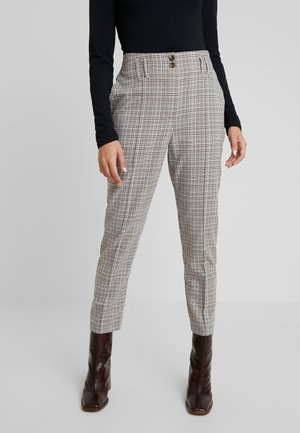 BELTED CHECK - Trousers - multi dark