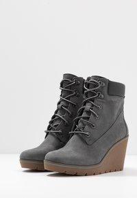 Timberland - PARIS HEIGHT  - High Heel Stiefelette - medium grey - 4