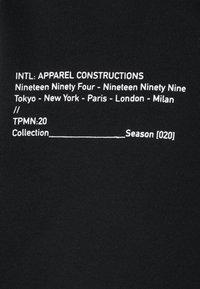 Topman - PRINTED BUNGY HOOD - Hoodie - black - 10