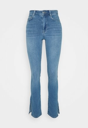 MOLLY SLIT  - Slim fit jeans - light mid blue