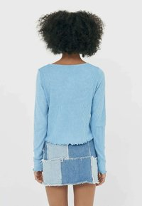 Stradivarius - MIT PATCHWORK - Long sleeved top - blue - 3