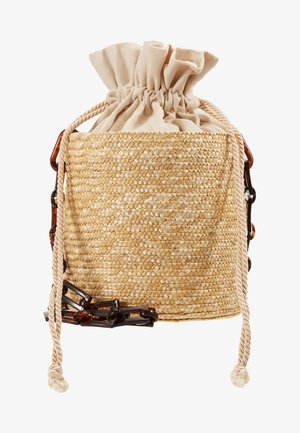 SHOULDER BASKET - Across body bag - beige
