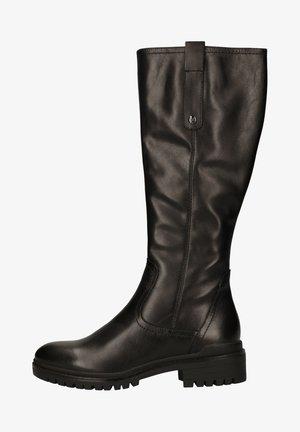 Platform boots - black nappa