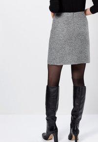 zero - MIT WOLLE - A-line skirt - silver grey-m - 2