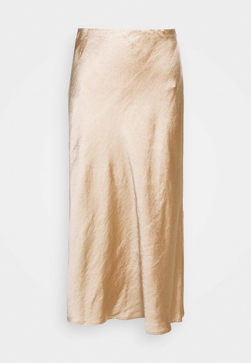 Third Form - WILD FLOWERS BIAS MIDI SKIRT - A-line skirt - rose gold