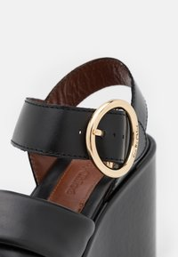 See by Chloé - LYNA WEDGE - Platform sandals - black - 6