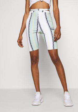 CYCLING TIGHTS - Shorts - white/green tint