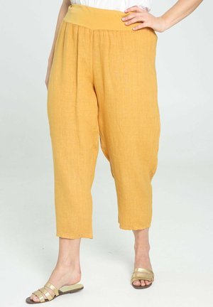 Trousers - ocher