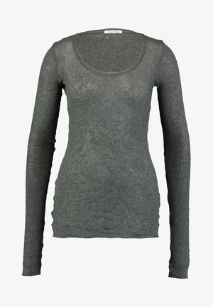Long sleeved top - anthracite chine