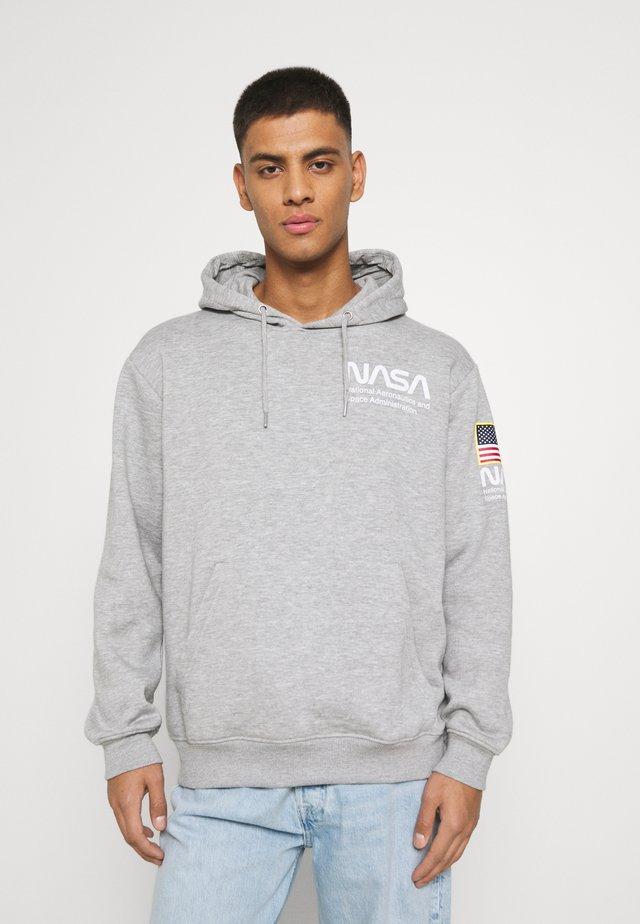 NASA HOOD - Sweater - grey marl
