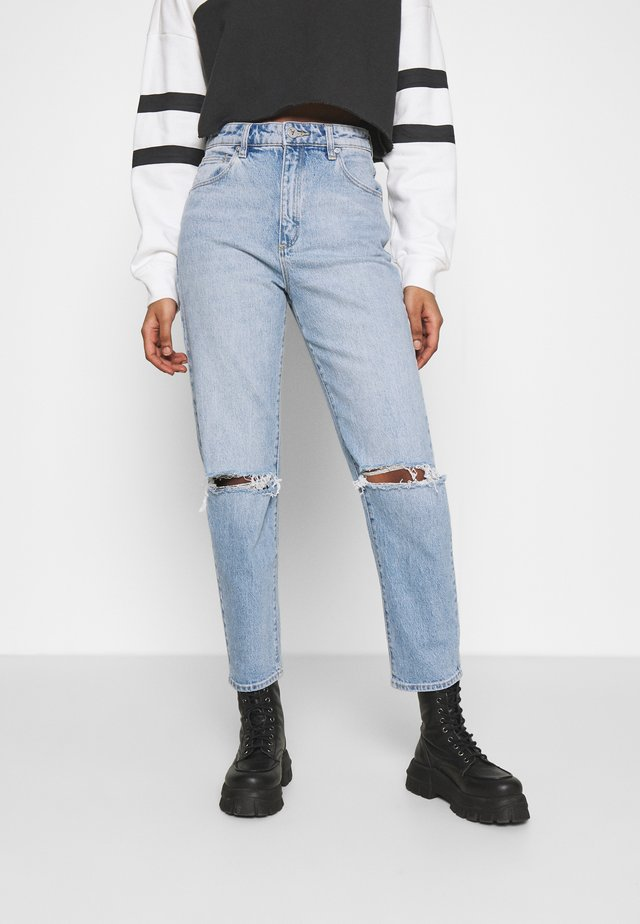 HIGH SLIM - Jeans straight leg - april
