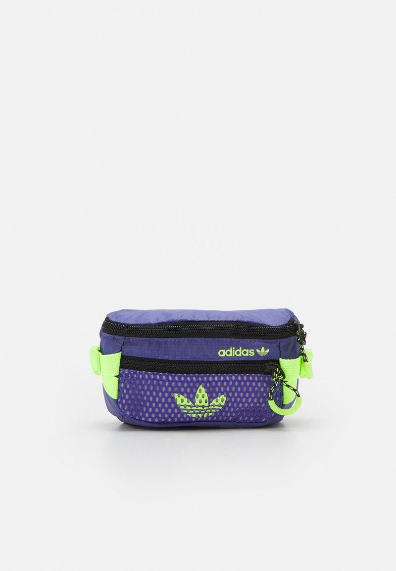 adidas Originals - WAISTBAG UNISEX - Bum bag - purple/black/signal green