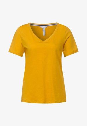 T SHIRT IM BASIC STYLE - Basic T-shirt - gelb