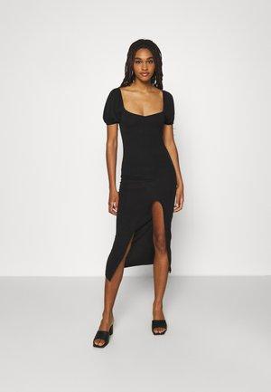 MILKMAID SPLIT DRESS - Vapaa-ajan mekko - black
