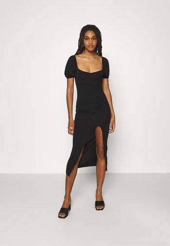 MILKMAID SPLIT DRESS - Day dress - black