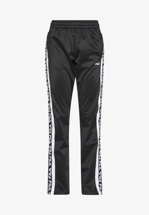 TAO - Tracksuit bottoms - black/bright white