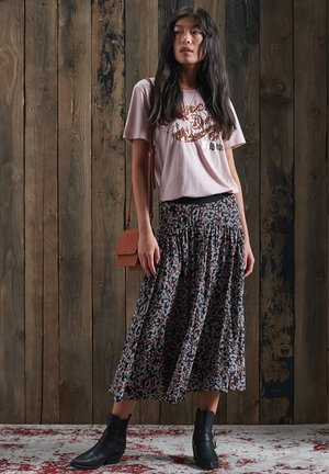 SCRIPT SEQUIN - Print T-shirt - shell pink marl