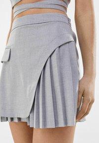 Bershka - A-line skirt - grey - 3