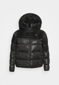 Calvin Klein Jeans Plus - SHINY SHORT PUFFER - Winter jacket - black - 5