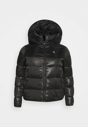 SHINY SHORT PUFFER - Zimní bunda - black
