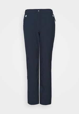 WOMAN SKI PANT - Skibukser - black/blue