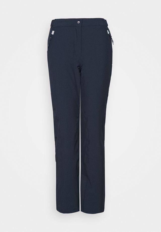 WOMAN SKI PANT - Pantalon de ski - black/blue