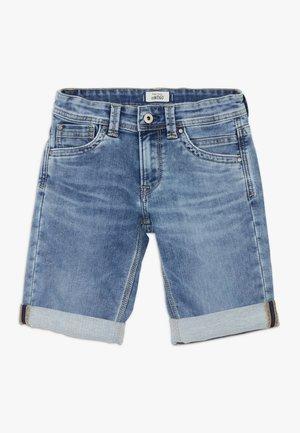 TRACKER - Denim shorts - light blue