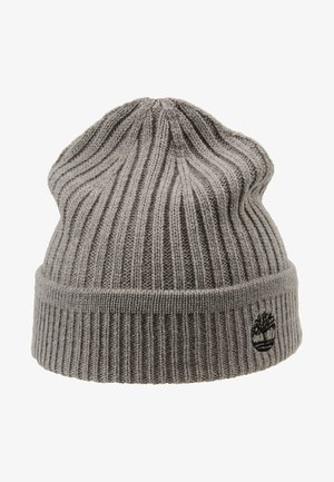 SOLID RIB BEANIE - Mütze - light grey heather