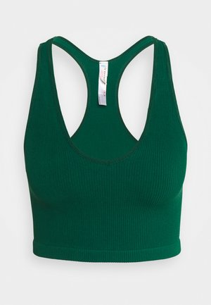 FREE THROW CROP - Light support sports bra - emerald