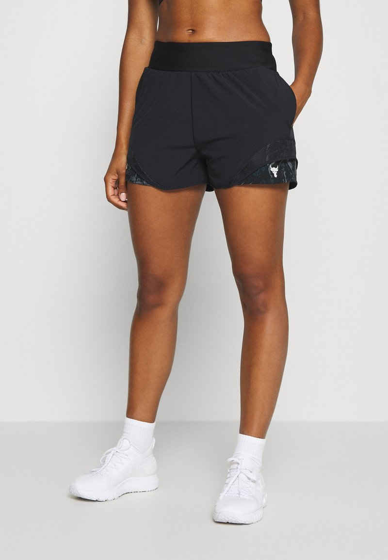 Under Armour - PROJECT ROCK TRAIN SHORTS - Sports shorts - black/summit white