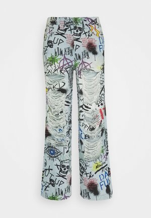 RIPPED GRAFFITI SKATE  - Jeans baggy - blue