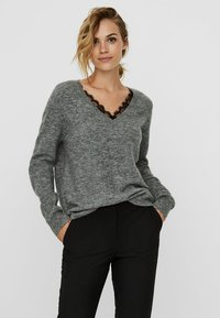 Vero Moda - VMIVA  - Jumper - medium grey melange - 0