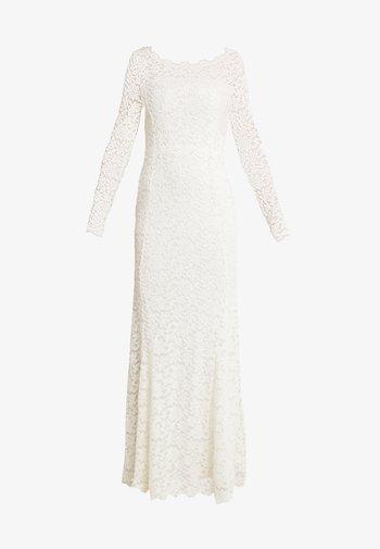 DRESS LS - Společenské šaty - ivory