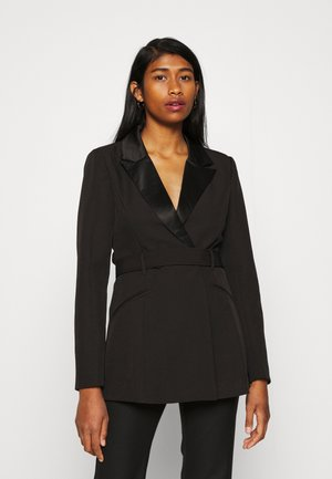 TAILORED OPEN BACK - Blazer - black