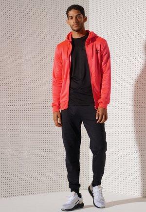 Zip-up sweatshirt - neon red