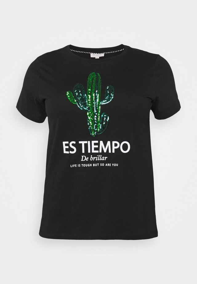 CARSIEM LIFE REG TEE - Camiseta estampada - black