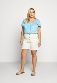 Fashion Union Plus - BEANA - Blouse - blue/white - 1