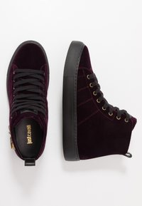Just Cavalli - High-top trainers - burgandy