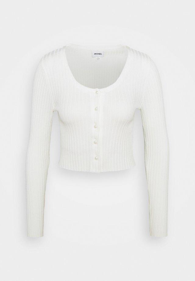 ALIANA CARDIGAN - Cardigan - white light