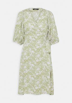 DITA DRESS - Day dress - green/white