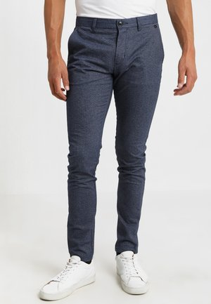 SLH SLIM-ARVAL MIX PANTS - Pantalones chinos - medium blue denim