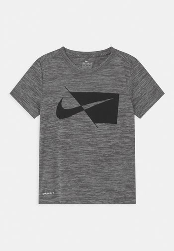 PERFORMANCE UNISEX - Print T-shirt - smoke gray heather