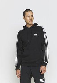 adidas Performance - 3 STRIPES ESSENTIALS - Hættetrøjer - black/white - 0