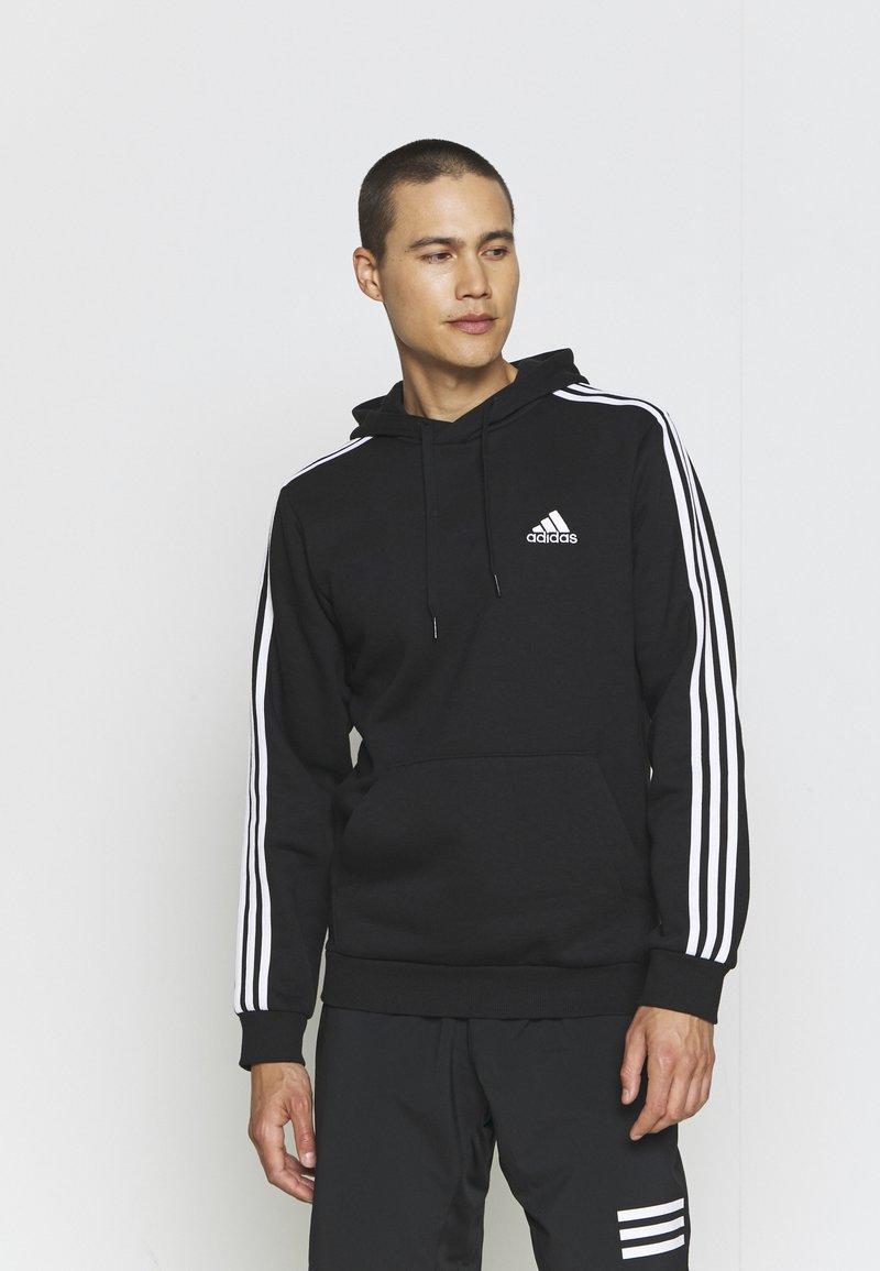 adidas Performance - 3 STRIPES ESSENTIALS - Hættetrøjer - black/white