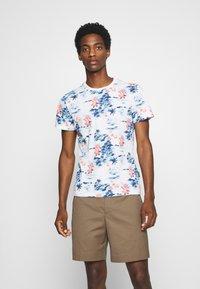 Schott - Print T-shirt - blue hawai - 0