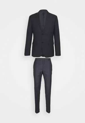 MICRO STRUCTURE SUIT - Costume - navy