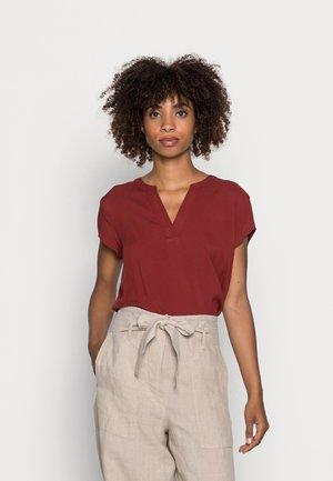 Blouse - dark maroon red