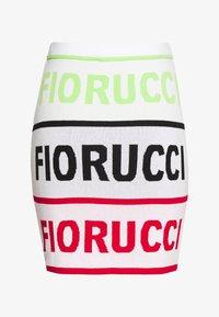 Fiorucci - LOGO SKIRT - Pencil skirt - white - 3