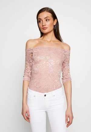 OFF SHOULDER BODYSUIT - Top s dlouhým rukávem - pale mauve